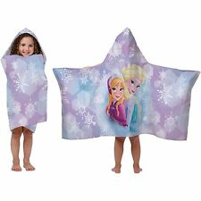 NWT Disney Frozen Elsa 22x51 Hooded Bath Towel Wrap Beach Cotton Toddler Kids