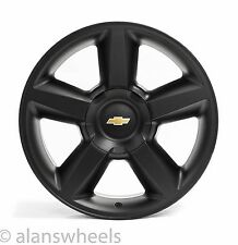 4 NEW Chevy Silverado Avalanche LTZ Matte Black 20 Wheels Rims Gold Bowtie 5308