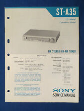 SONY ST-A35 TUNER SERVICE MANUAL ORIGINAL FACTORY ISSUE GOOD CONDITION