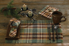 PLACEMAT - WOOD RIVER BY PARK DESIGNS - KITCHEN & DINING - GREEN, BROWN, GOLD
