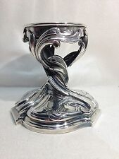 Victor SAGLIER French 19th Cen Art Noveau Stand Base Fabulous 19th SIlverPlate