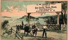 A Victorian Advertising Card - C. W. Scott & Co. Dry Goods -  Winchester, NH