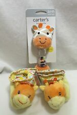 Giraffe Baby Shower Gift Set Carters Russ Plush Hand Rattle Booties Infant