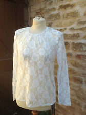 WHITBY VICTORIAN STEAMPUNK GOTH LACE STRETCH LADIES BLOUSE TOP M/L 12 14 16