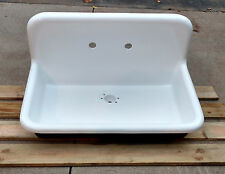 Antique Refinished 22x36 High Back Farm Sink Cast Iron Porcelain Wall Mount Sink
