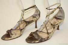 Jimmy Choo Boutique Womens 9.5 39.5 Snakeskin Sandals Made in Italy pp