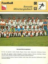 FICHE CARD: CLUB Borussia Mönchengladbach GERMANY PHOTO EQUIPE FOOTBALL 1970s