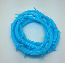 New Children Blue Spike Rubber Bracelets Gummy Wristbands Accessory Uk Seller