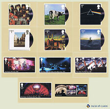 2016 pink floyd PHQ 417-mint cards-lot de 11 royal mail postcards