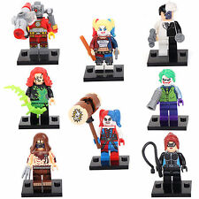 Megamind Harley Quin Catwoman Joker Scarecrow 8 Minifigures Building bricks LEGO