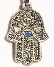 HAMSA Key Chain Ring w/English Jewish Traveller Prayer, Journey/Travel Medallion