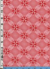 Fabric Henry COSMO RED white geometric OP ART  RARE BTHY