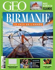 GEO décembre 2016 LA BIRMANIE, Islande, Kenya, Amazonie