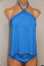 NWT Lucky Brand Swimsuit Tankini 2 pc set Size M L High Neck Hipster Bottom PER