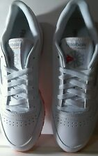Womens Rebok Classic Leather White Sneakers Size 9