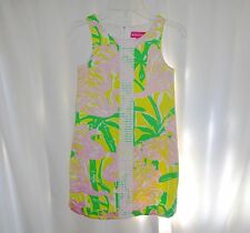 LILLY PULITZER For Target Size M 7 8 Dress Pink Green Flaimingo Fan
