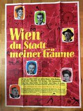 Wien, du Stadt meiner Träume (A0-Kinoplakat '58) - Adrian Hoven / Erika Remberg