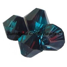 Swarovski Crystal Beads 5328 BURGUNDY BLUE ZIRCON BLEND Faceted Bicone 4MM 25Pc