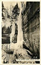RPPC Postcard Ice at Cantwell Cliffs Hocking County Ohio
