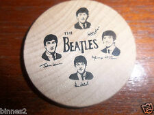 THE BEATLES ORIGINAL OFFICIAL 1960's USA WOODEN NICKEL COIN GREAT CONDITION