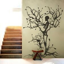 Halloween Skeleton Wall Decal Motivation Vinyl Tree of Life Home Mural Art Decor
