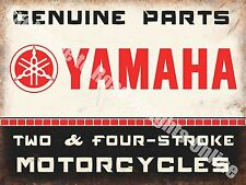 Yamaha Classic 70's Retro Motorcycle, Bike 106 Old Garage, Small Metal/Tin Sign