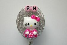 NURSE FLOWERY KITTY RN MEDICAL DOCTOR EMT NURSE VET TEACHER ID BADGE HOLDER