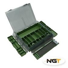 NGT Tackle Box System 7+1 Complete Carp Fishing Tackle Box