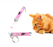 New Pet Dog Cat Interactive Toys Electric Laser LED Pointer With Key Chain Yungo