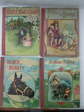 LOT-4 UNCLE TOM'S CABIN, BLACK BEAUTY, PUSS IN BOOTS + 1 ca. 1910-15 illustrated