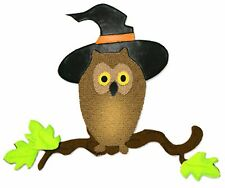 Sizzix Bigz Owl on Branch with Witch Hat die #655567 Retail $19.99, Sweet Fun!!!