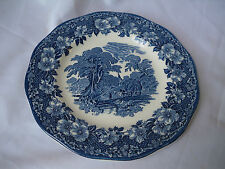 Enoch Wedgwood (Unicorn) Woodland Blue Salad/Dessert Plate