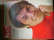 rare PARIS MATCH  numero 925 decembre1965:  SPECIAL ADAMO et WALT DISNEY!!!