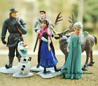 6x Disney Frozen Anna Elsa Olaf Sven Doll Loose Figurine Figure Cake Top Toy Set