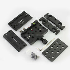 Dovetail Quick Release Baseplate fr DSLR Rig Follow Focus Mirrorless Camera LWS
