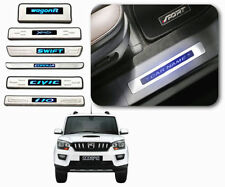 Car Door LED Sill Scuff Plate FootSteps for Mahindra Scorpio