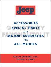 Jeep Accessory Manual 1957 1958 1959 1960 1961 1962 CJ CJ3B CJ5 CJ6 FC150 FC170