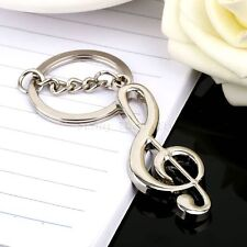 Cool Musical Note Music Symbol Keyring Keychains Keyfob Key Chains Holder Gift