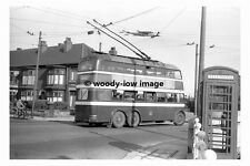 pt8963 - Doncaster Trollybus 346 at Playfairs in 1955 - photograph 6x4