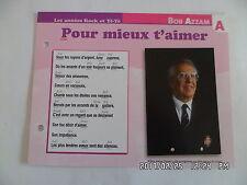 CARTE FICHE PLAISIR DE CHANTER BOB AZZAM POUR MIEUX T'AIMER