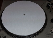 "White Felt 3mil Slipmat 12"" Vinyl NEW!! Technics or any Turntable DJ Platter Mat"