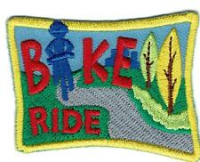 Girl Boy BIKE RIDE Riding Biking Blue Patches Crests Badges SCOUT GUIDE tour day