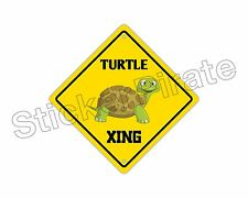 """*Aluminum* Turtle Crossing Funny Metal Novelty Sign 12""""x12"""""""