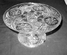 Lovely EAPG Beatty-Brady 1898 DOUBLE PINWHEEL PEDESTAL CAKE STAND