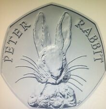 Peter Rabbit 150th Anniversary 50 Pence Coin .UNCIRCULATED