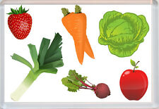 Fruit and Veg (Vegetables) - Jumbo Fridge Magnet - Fun Novelty Gift Present