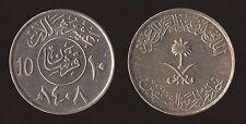 ARABIA SAUDITA SAUDI 10 HALALA 1987/1408