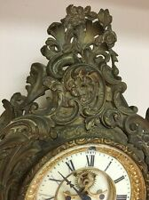 WORKING : Ansonia Clock Company New York : Antique Bronze Mantel Clock