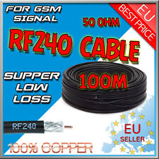100m RF Coaxial LMR240 Cable Wire Lead KSR240 RF240 50 ohm 1.4mm REINES KUPFER