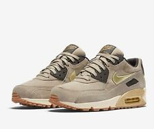 NIKE AIR MAX 90 PRM SUEDE String Dark Storm Sail Metallic Gold Grain Size UK 6.5